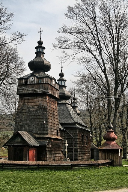 Hańczowa, Beskid Niski, Poland One of the many wooden churches ,dating back to the 19th cntury, in the Lower Beskid mountains