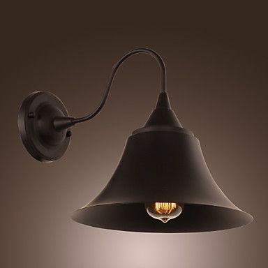 60W Artistic Wall Light with Retro Metal Shade and Bracket – USD $ 129.99