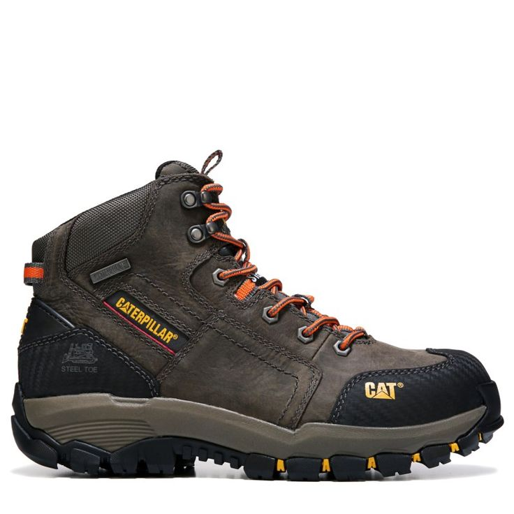 Caterpillar Men's Navigator Mid Medium/Wide Waterproof Steel Toe Boots (Dark Gull Grey)