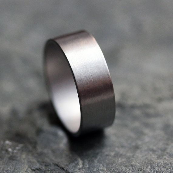 Palladium wedding ring - wide wedding band - unisex - mens wedding band - custom size - made to order