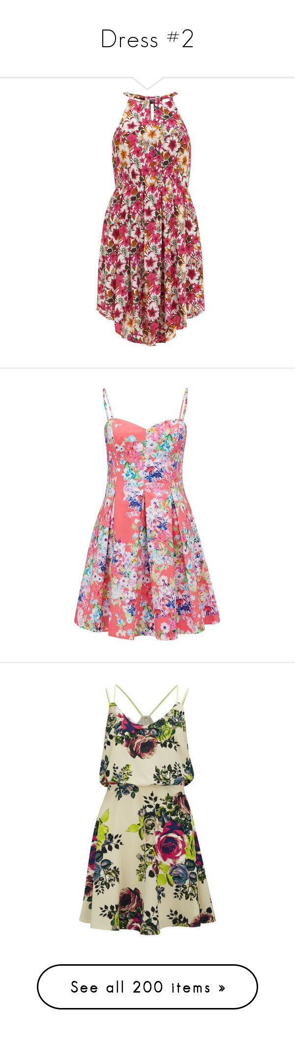 """""""Dress #2"""" by raquelrsilva01 ❤ liked on Polyvore featuring dresses, pink, sundress dresses, floral printed dress, sun dresses, pink necktie, neck tie dress, vestidos, short dresses and robes"""