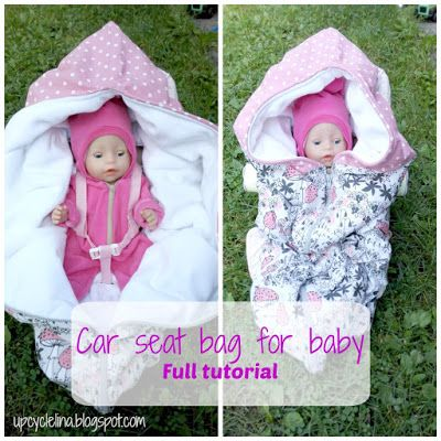 Upcyclelina: Car seat bag tutorial. Adjustable for any baby car seat.