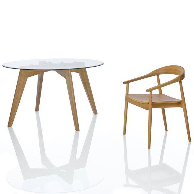 25 melhores ideias sobre table ronde en verre no - Table ronde verre trempe ...