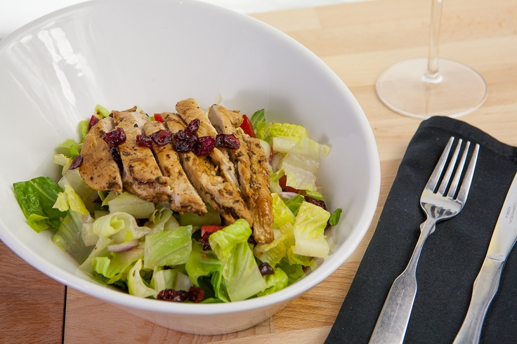 Cranberry Salad with Grilled Chicken.