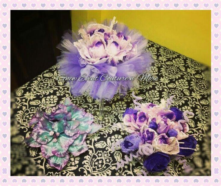 Lilac flower centerpiece