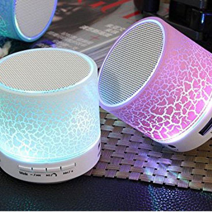 GOESTIME New Mini Bluetooth Speaker Portable Wireless Speakers Sound System Stereo Music Colorful LED Light Speaker Subwoofer