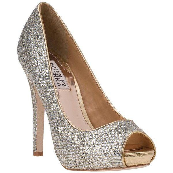 Badgley MischkaSilver Glitter, Wedding Shoes, Gold Silver, Sparkly Shoes, Humbi Ii, Pump Gold, Mischka Humbi, Mischkahumbi, Badgley Mischka