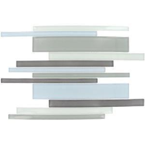 Kitchen backsplash- MS International Key largo Interlocking Pattern Mosaic Glass Tile