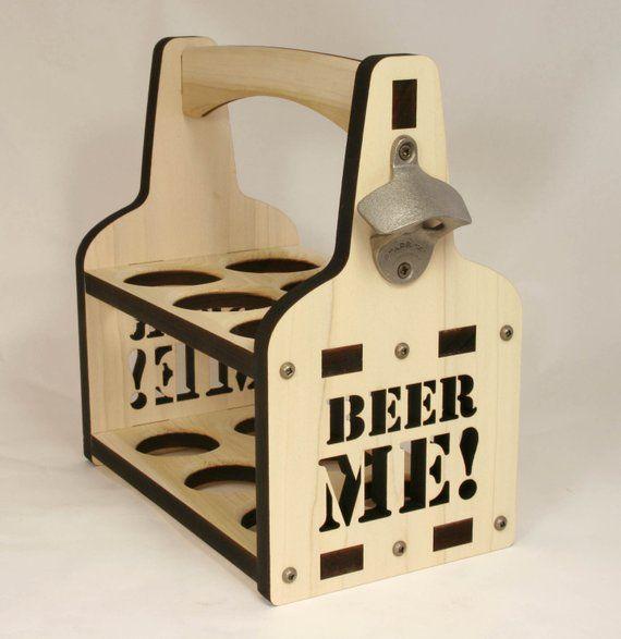 Beer Tote Beer Holder Wooden Beer Caddy Beer Me Beer Carrier Bottle Caddy 6 Pack Holder Wooden Beer Caddy Beer Caddy Wooden Wine Boxes