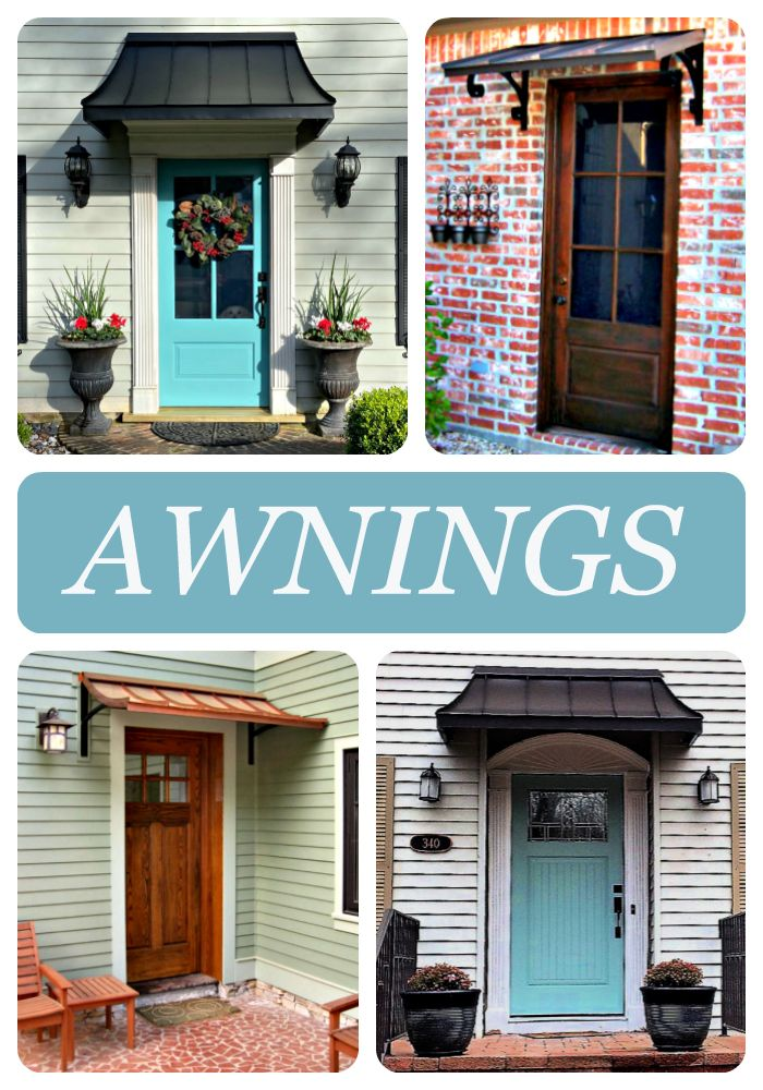 Beautiful Awnings Home Exterior Makeover House Exterior Coastal Cottage