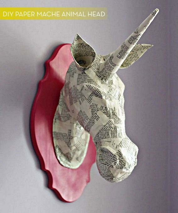 How to make a #DIY paper mache animal mount! #awesome #random