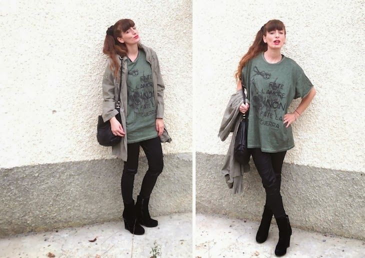 #military #tshirt #fashion #streetwear #style #girl #blogger #cool   tshirt maximaglie unisex, ispirazione militare teschi, automa style nuovi brand, amanda marzolini, the fashionamy, fashion blogger made in i...