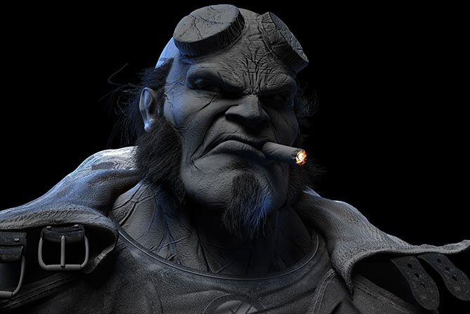 Making of #Hellboy by Rodrigo Soria  Software programs were used :  Softimage,  #Zbrush, Modo, # Photoshop and After Effects.http://www.allcgtutorials.com/2013/making-of-hell-boy-by-rodrigosoria/