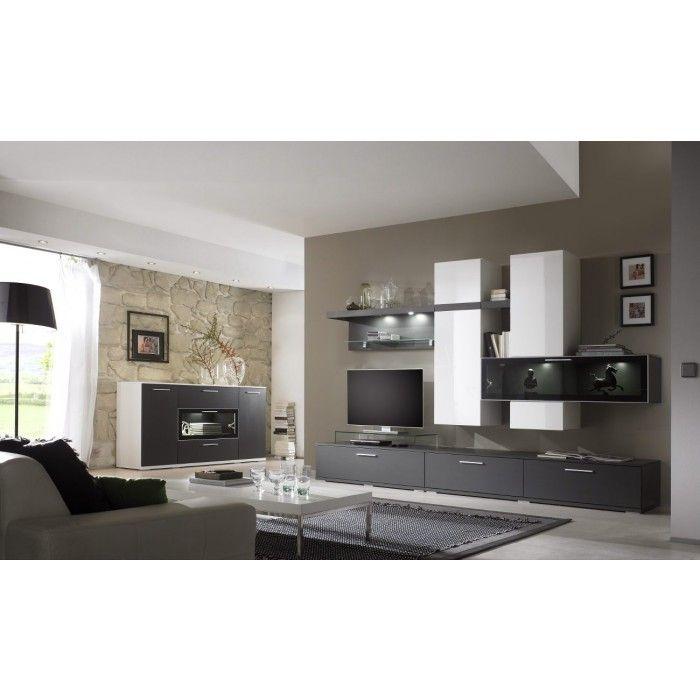 170 best Inneneinrichtung images on Pinterest Dining room - moderner wohnzimmerschrank mit glastüren und led beleuchtung