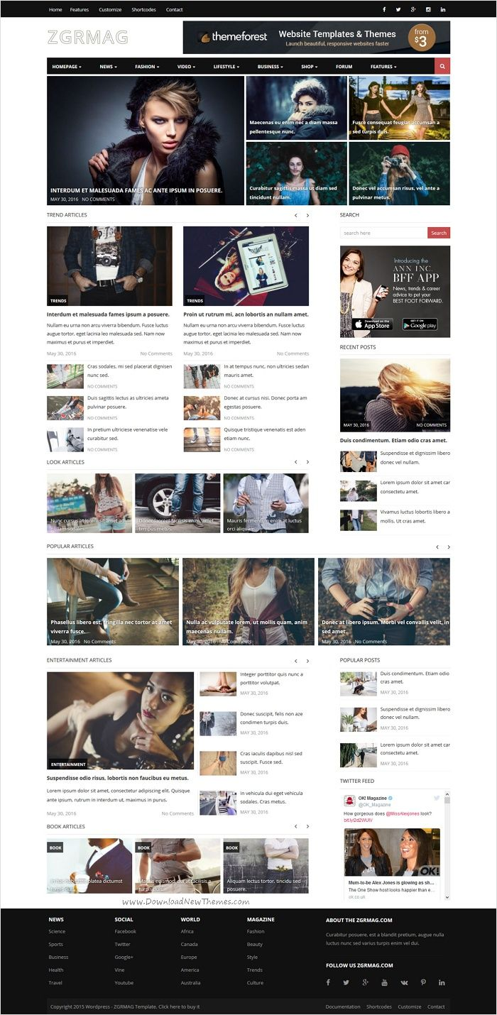 ZGRMAG is a clean and modern design responsive #WordPress #template for News and #Magazine #Portal website with 10 unique homepage layouts download now➩ https://themeforest.net/item/zgrmag-clean-news-and-magazine-portal-theme/15369087?ref=Datasata