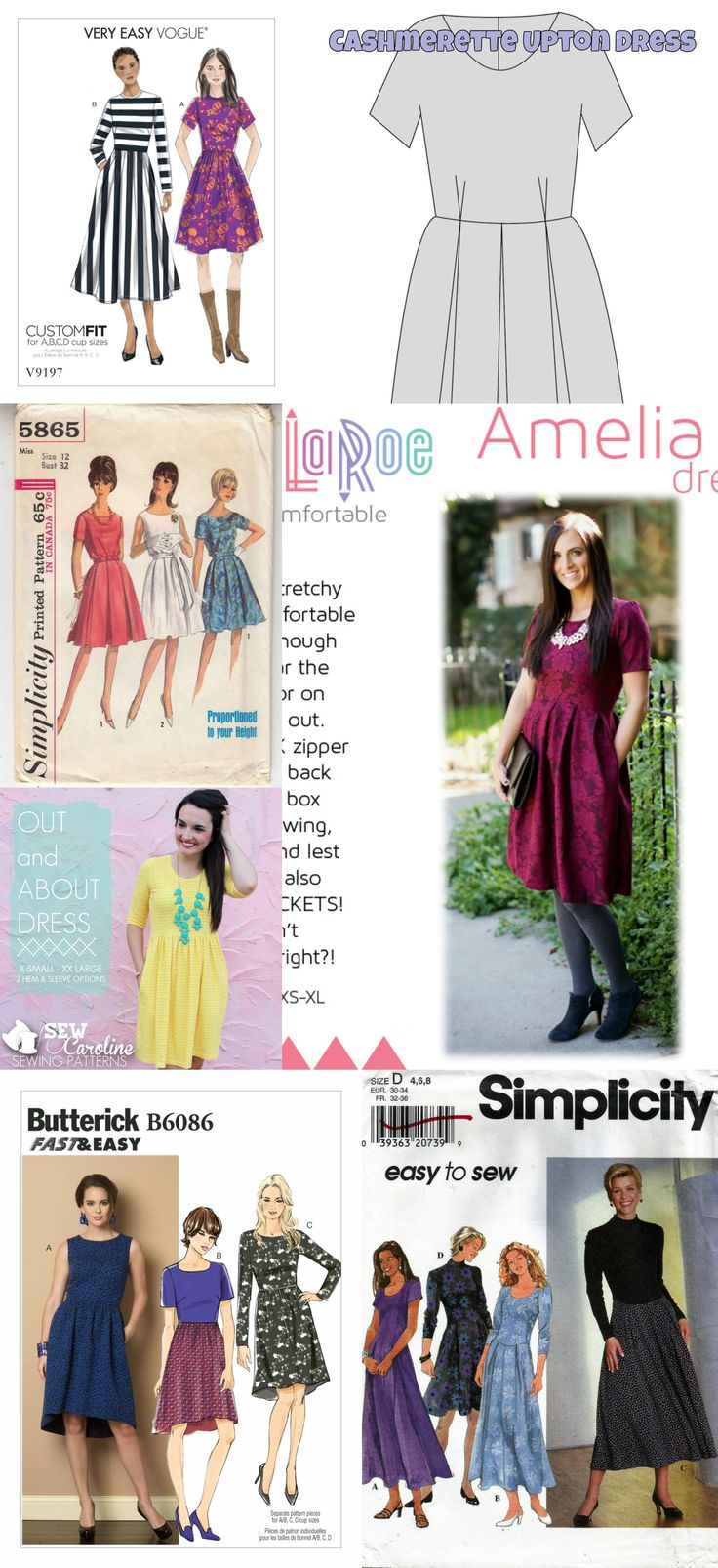 Dupe the Amelia Dress my LuLaRoe! This one is a little harder. You're looking for a Fit and Flare dress, with a full skirt, box pleats and pockets made in a knit. The closest thing will require a little bit of alteration, and thats the Out and About Dress. You'll need to convert the gathers to box pleats.