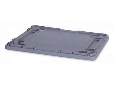 Drop on Lid for 800x600 Large Euro Plastic Stacking Container - Stackable Storage Box