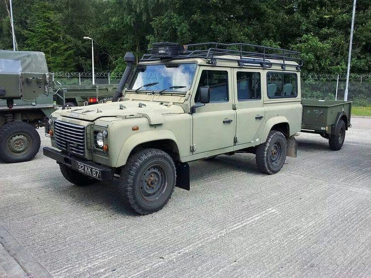 military land rover defender 110 station wagon landy pinterest station wagon military. Black Bedroom Furniture Sets. Home Design Ideas