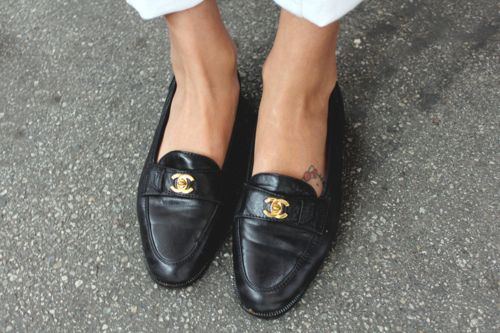 #vintage chanel loafers