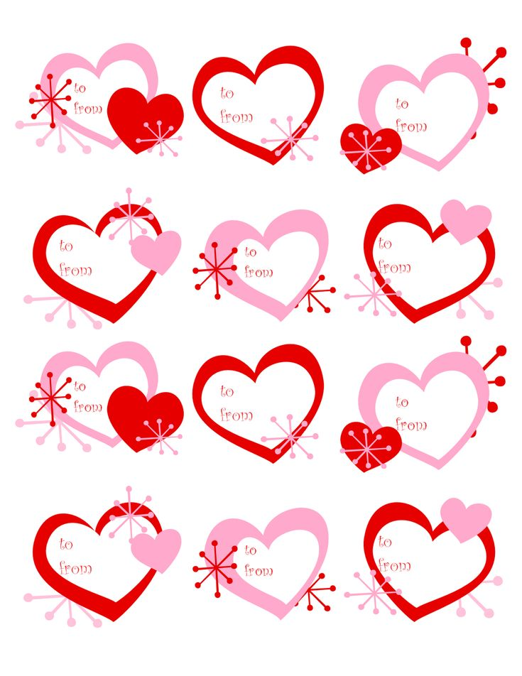 It is a picture of Massif Valentine Labels Printable
