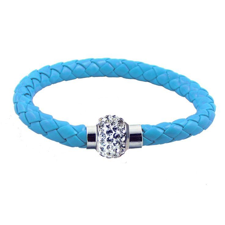 Shamballa gömbös kék karkötő