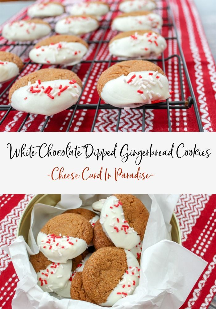 White Chocolate Dipped Gingerbread Cookies Recipe Cookies