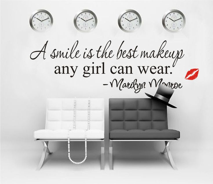 One makeup marilyn monroe quote wall sticker vinyl art mural home decor decal