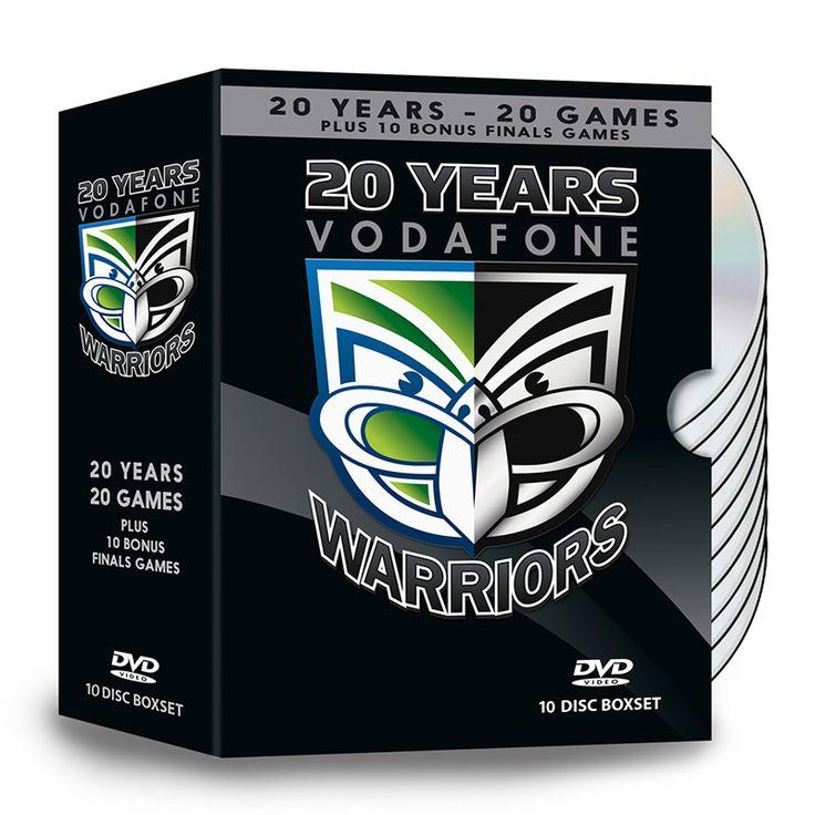 Vodafone Warriors '20 Years' DVD box set #WarriorsForever #Warriors #DVD #BoxSet #Anniversary #NRL
