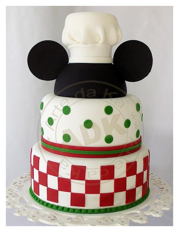 Pizzeria Mickey Cake by Arte da Ka via Flickr.
