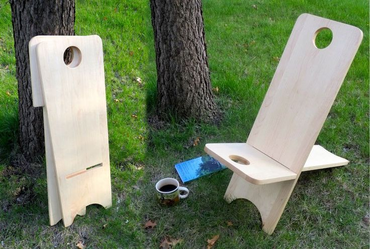 I think this requires JUST enough woodworking tools to be out of my range, but I really want a viking / bog / plank / stargazing chair.