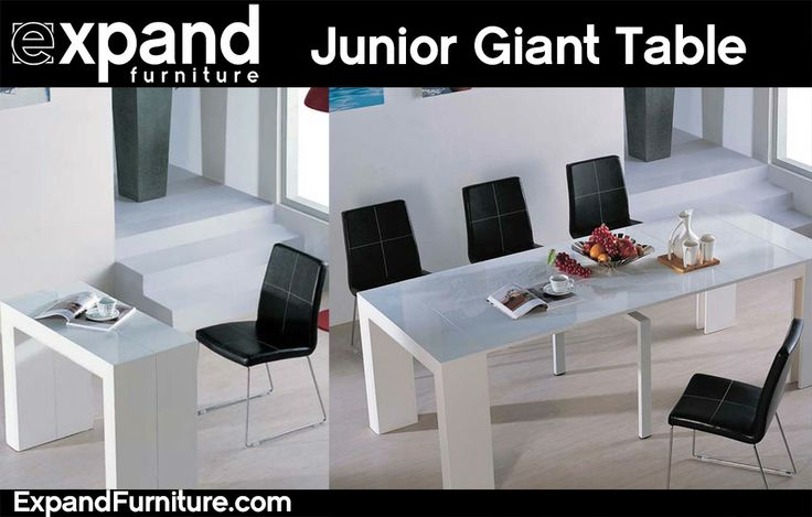 Junior Giant can be used as a conference table after you easily and quickly take the compacted table and expand it out into a huge table ready for a dinner party or a conference meeting. Save a ton of space. By Expandfurniture.com