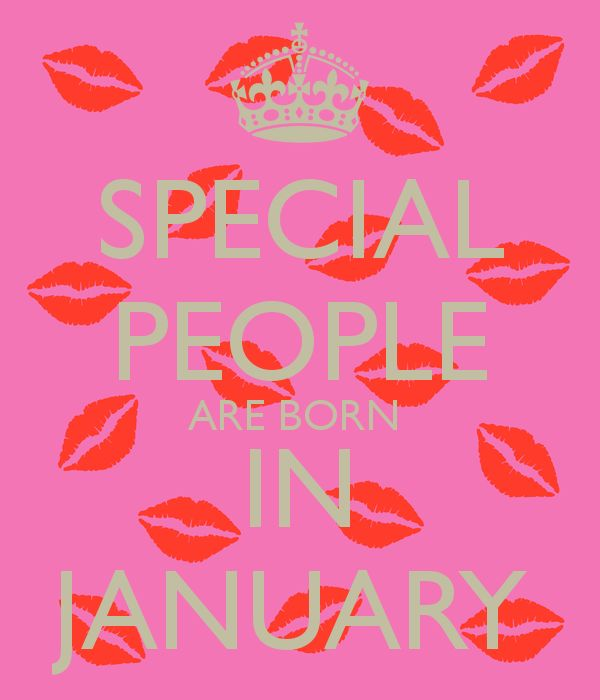 SPECIAL PEOPLE ARE BORN IN JANUARY - KEEP CALM AND CARRY ON Image Generator