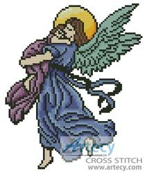 Angel Hug Counted Cross Stitch Pattern http://www.artecyshop.com/index.php?main_page=product_info&cPath=31_36&products_id=1217