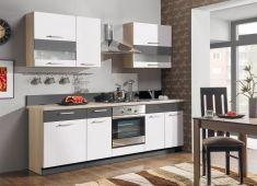 kuchyně Modena 240 bílý lesk / grafit mat / grafit