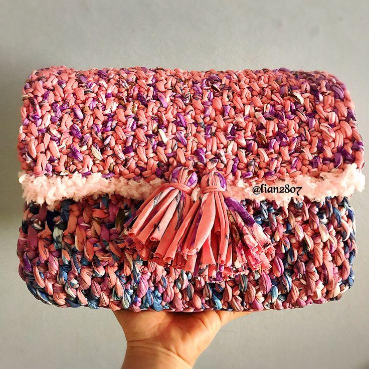 Tyarn crocheted purse