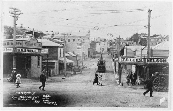 Cleveland Street shopping center, Brooklyn, Wellington... 1908