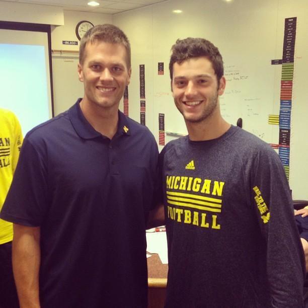 Michigan men! Tom Brady and Shane Morris