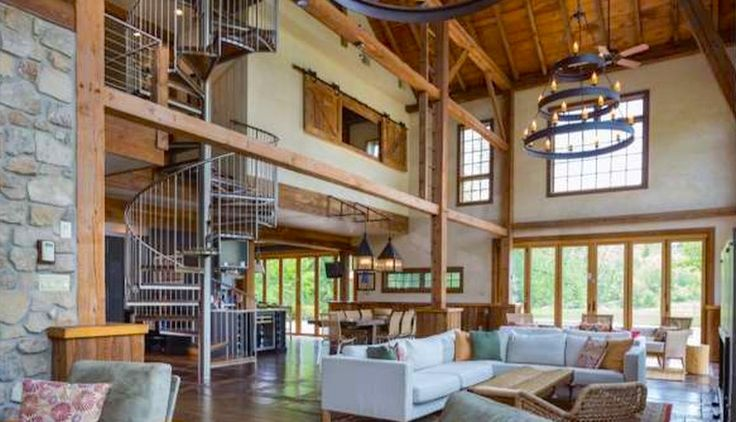 Parts of this reclaimed barn structure give the impression of being a modern-day manse straight out of the Seven Kingdoms.