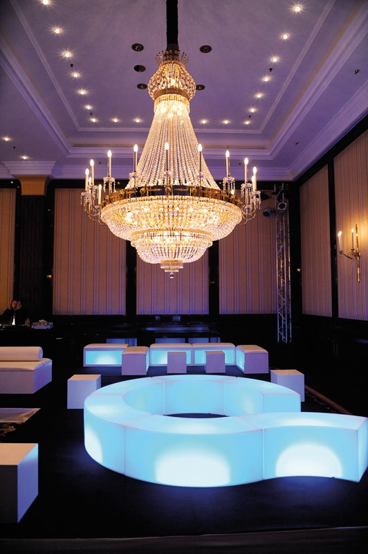 SNAKE seats, design by SLIDE Studio. #plastic #furniture #party #light #glam #chandelier