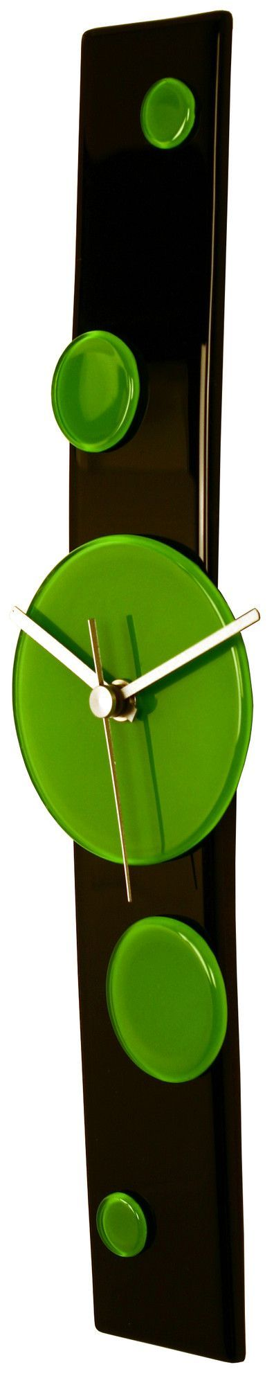 Curved Glass Clock with Dots