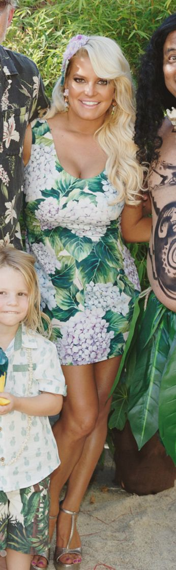 Who made Jessica Simpson's floral dress?