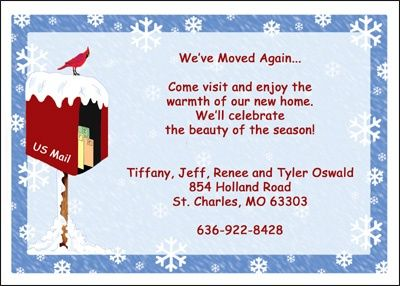 Christmas New House Announcements for Your New Home at CardsShoppe.com