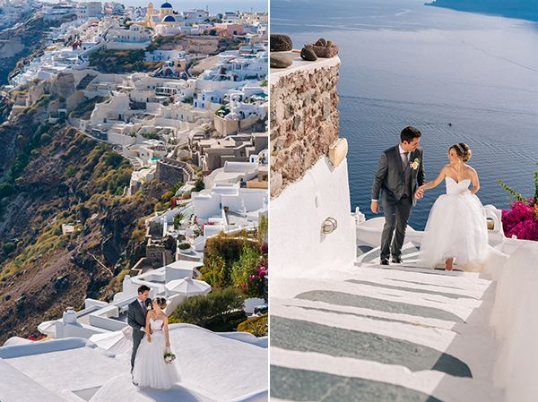 Elegant white and gold wedding in Oia | Andressa & Fernando - Love4Wed