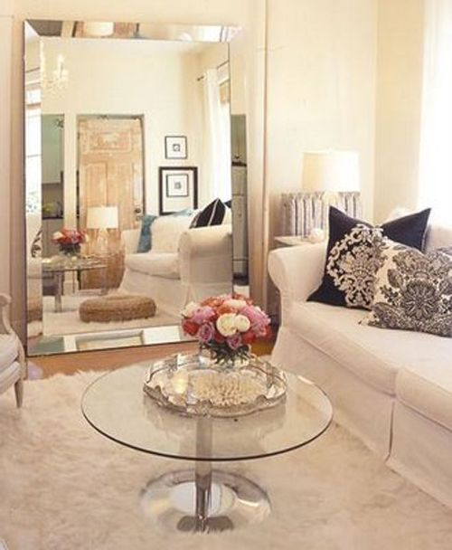 Buy glass or clear items of furniture To Make A Small Space Feel So Much Bigger