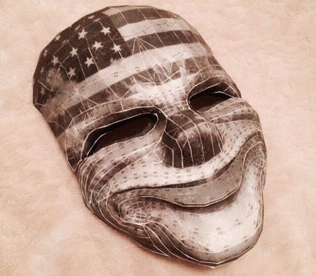 PayDay 2 - Life Size Dallas' Clown Mask Free Papercraft Download - http://www.papercraftsquare.com/payday-2-life-size-dallas-clown-mask-free-papercraft-download.html#11, #Dallas, #LifeSize, #Mask, #Payday