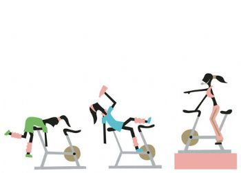 Hilarious! Spinning class picture!!