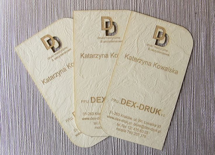 Dex Druk Wood Business Cards: made from 100% biodegradable wood, they will take your design to a new level with Their unique charm info@dex-druk.pl