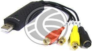 Capturadora de audio y vídeo compuesto a través de puerto USB. Se trata de un módulo compacto que dispone de conector USB A-Macho, conector específico para las entradas de audio y vídeo. Ideal para la digitalización de cintas de audio y vídeo analógicas.