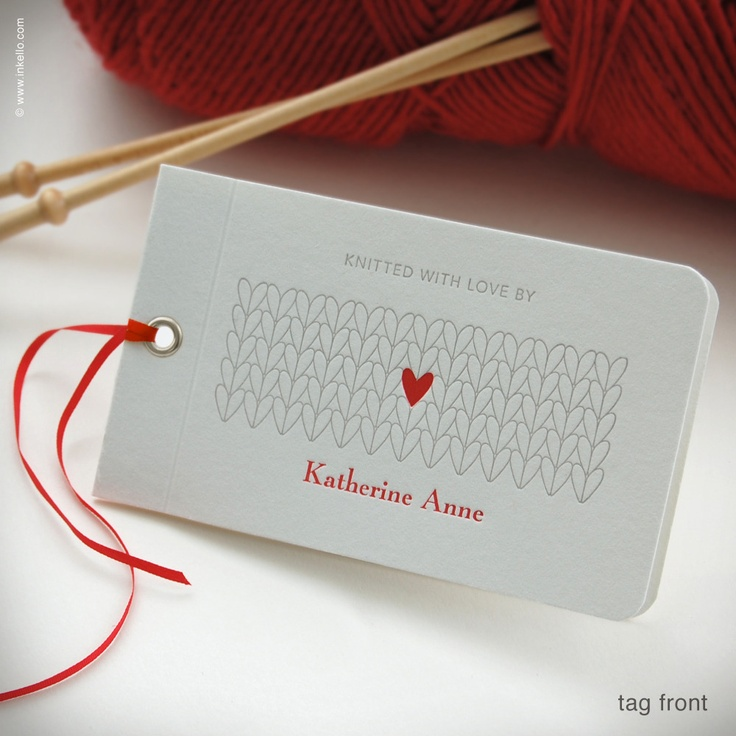 Knitting Gift Tags : Best images about knitting labels on pinterest wool