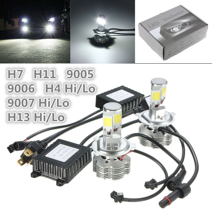 2x 100W 10000ML Car LED Headlight Kit H4 H7 H11 H13 9005/HB3 9006/HB4 9007/HB5 Bulb Auto Front Fog DRL Bulb Automobile Headlamp-in Headlight Bulbs from Automobiles & Motorcycles on Aliexpress.com | Alibaba Group